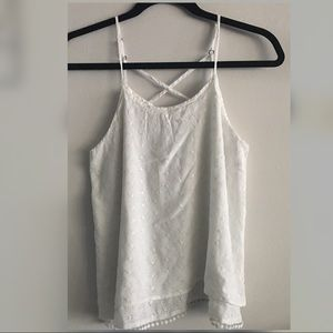 White lace tank top by Abercrombie size kids 15-16